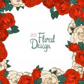 复古花卉矢量帧 — 图库矢量图片