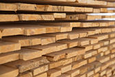 Wooden timber at a sawmill — Stock Photo
