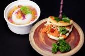 Asian Pancake and Pudding — Stock Photo