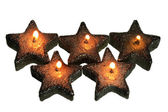 Star-Shaped Candles — Stock Photo