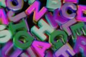 Plastic Alphabets — Stock Photo
