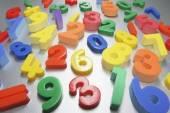 Plastic Numbers — Stock Photo