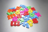 Plastic Alphabets — Stock Photo