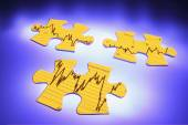 Graph Jigsaw Puzzle Pieces — Stock Photo