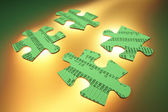 Stock Listing Jigsaw Puzzle Pieces — Stock Photo