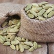 Cardamom seed in sack — Stock Photo #62246689