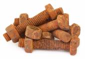 Rusty bots with nuts — Stock Photo