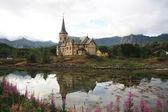 View of the village Svolvars Church — Photo