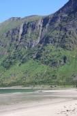 Norwegian landscape  in Lofoten, Northern Norway — Photo