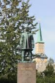 Monument of Roald Amundsen in Tromso — Photo