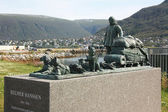 Monument of Helmer Hanssen  in Tromso — Stock Photo