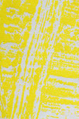 Strips yellow paint on paper — Stock Photo