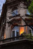 Evening building in Belgrade — Stock Photo