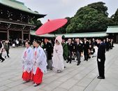 A traditional Japanese wedding ceremony — Stock Photo