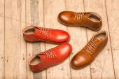 Men Brown and red Shoes — Stock Photo