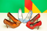 Different high heels shoes — Stock Photo
