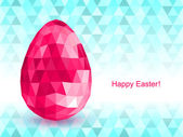 Vector background with Easter egg crystal. — Stock Vector