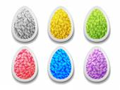Set of crystal colorful  Easter eggs.  — Stock Vector