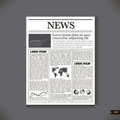 The newspaper with a headline News — Stock Vector