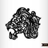 Zodiac signs black and white - Leo — Stock Vector