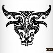 Zodiac signs black and white - Taurus — Stock Vector #57924357