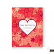 Happy Valentines Day Greeting card. Love background. — Stock Vector #59883163