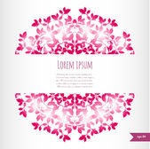 Omantic floral background with place for your text.Ornamental ro — Stock vektor