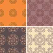 Set of four ornamental seamless pattern. — Stock Vector