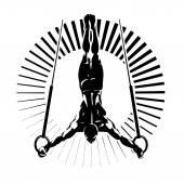 Gymnastic rings. — Stock Vector