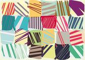 Vector decorative color stripes — Stock Vector