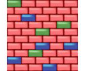 Färgade vägg — Stockvektor