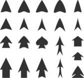Frecce nere — Vettoriale Stock