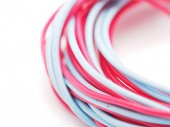 Multicolored wire on a white background — Stock Photo