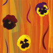 Seamless composition with colorful violas on grunge striped background — ストックベクタ #67735505