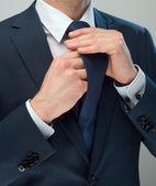 Hands & Cravat — Stock Photo