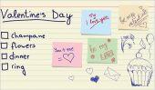 Love sticker and memo list — Stock Vector
