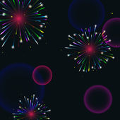 Colorful fireworks — Stock Vector