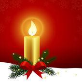 Weihnachten kerze — Stockvektor
