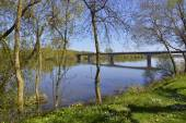 The banks of the Vienne river — Stock Photo