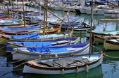Small boats in the port of Nice — Stock Photo