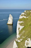Famous cliffs of Etretat in France — Stock Photo