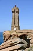 Lighthouse of Ploumanac'h in France — Stock Photo