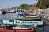 Fishing port of Thonon les Bains in France — Stock Photo