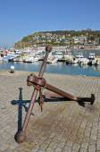Marine anchor at Fécamp in France — Stock Photo