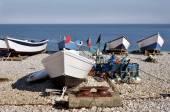 Fishing port of Yport in France — Stockfoto