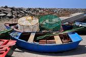 Kleine Boote von San Miguel del Tajao auf Teneriffa — Stockfoto