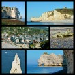 Photos mosaic of Etretat in France — Stock Photo #79478196