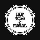 Snare drum with Keep calm and rlrrlrll inscription. Vector illustration eps8 — Stok Vektör