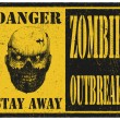 Zombie. Warning sign. Hand drawn. Vector illustration eps8 — Vector de stock  #61526101
