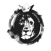 Lion head. hand drawn. vector illustration — Stock Vector